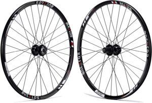 BUCKLOS Mountain Bike Wheelset 26/27.5/29 Inch, Aluminum Alloy Rim 32H Disc Brake MTB Wheelset, Quick Release Front Rear Wheels Black Bike Wheels