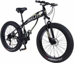 Ibiky Fat Tire Mountain Bike, 26-Inch Wheels, Multiple Colors 4.0 inch Fat Tire Snow Bike with Powerful Disc Brakes