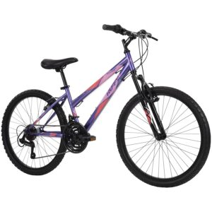 Huffy Hardtail Mountain Bike, Stone Mountain, 24 inch 21-Speed, Lightweight, Purple (74818)