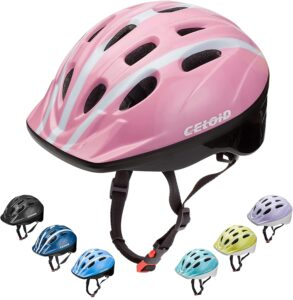 CELOID Kids Bicycle Helmet, Adjustable Toddler Skateboard Helmet for 3-5-8year Girls Boys for Multi-Sport Road Bike Riding Skateboarding Roller Skating Scooter Rollerblade Balance Bike