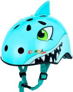 Kids Bike Helmet, GAOYU Blue Shark Kids Toddler Bike Helmet 2-6 Boy Girl Adjustable Safety Child Helmet for Cycling Skating Scooter Multi-Sport
