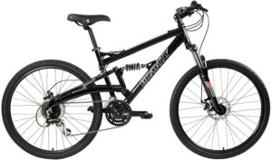 Gravity 2020 FSX 1.0 Dual Full Suspension Mountain Bike with Disc Brakes (Black, 17in)