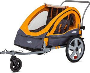 InStep Sierra Double Seat Foldable Tow Behind Bike Trailers