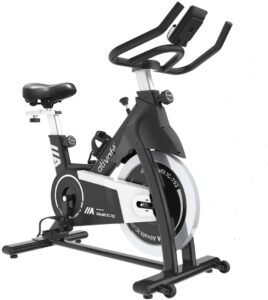 Ativafit Exercise Bike Stationary Indoor Cycling Bike 35 lbs Flywheel Belt Drive Workout Bicycle Training LCD Monitor / Ipad Mount / Adjustable Handlebar for Home Cardio