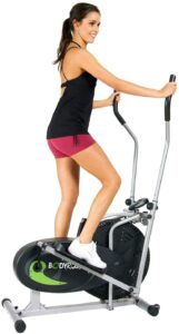 Body Rider Body Flex Sports Elliptical Exercise Machine, at-Home Exercise Equipment Black/Green/Silver, One Size