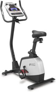 CIRCUIT FITNESS Circuit Fitness Magnetic Upright Exercise Bike with 15 Workout Presets, 300 lbs Capacity AMZ-594U