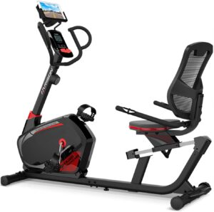 HARISON Magnetic Recumbent Exercise Bike Stationary bike for Seniors 350 LBS Capacity with 14 Level Resistance, iPad Holder, Pulse, Adjustable Seat and Transport Wheels (B8)