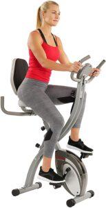 Sunny Health & Fitness Comfort XL Folding Semi-Recumbent Bike, SF-B2721