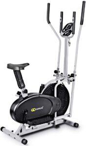 Nightcore 2 in 1 Elliptical Fan Bike Dual Cross Trainer Machine