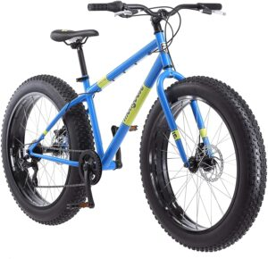 Mongoose Dolomite Mens Fat Tire Mountain Bike, 26-Inch Wheels, 4-Inch Wide Knobby Tires, 7-Speed, Steel Frame, Front and Rear Brakes, Multiple Colors