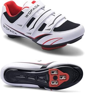 Unisex Cycling Shoes Compatible with Peloton Bike Road Mountain Biking Shoes Men's Peleton Bicycle Indoor Riding Spin Shoes with Look Delta Cleats for Men and Women SPD Clip On Spining