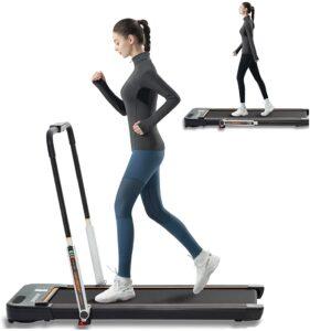 LSRZSPORT 2 in 1 Folding Treadmill