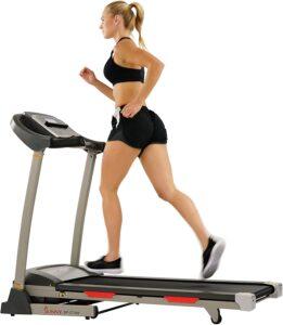 Sunny Health & Fitness Portable Treadmill with Auto Incline